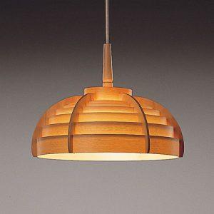 Wooden Hemisphere Hanging Lights