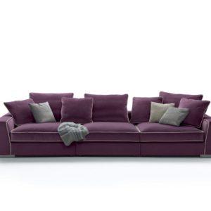 Modern 3 seater sofa living room in violet color