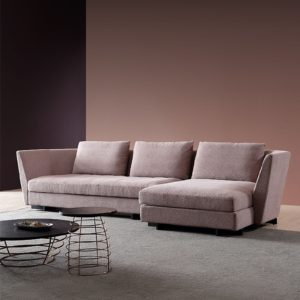 Modern 2seater sofa + 1seater sofa living room in pink color