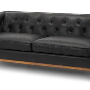 Modern I shape sofa living room in Black color