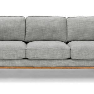 Modern I shape sofa living room in gray color