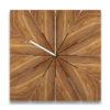 Pie Square wooden clock