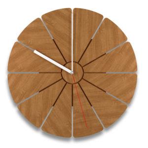 Pie Shape Decor Clock