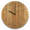 Rough Wooden Texture Clock