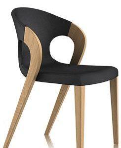 modern curvy black chair