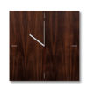 Dark Brown Texture Clock