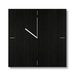 Dark texture Square wooden clock
