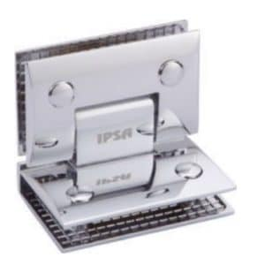 Curved glass to glass hinge 190 degree by Glassera